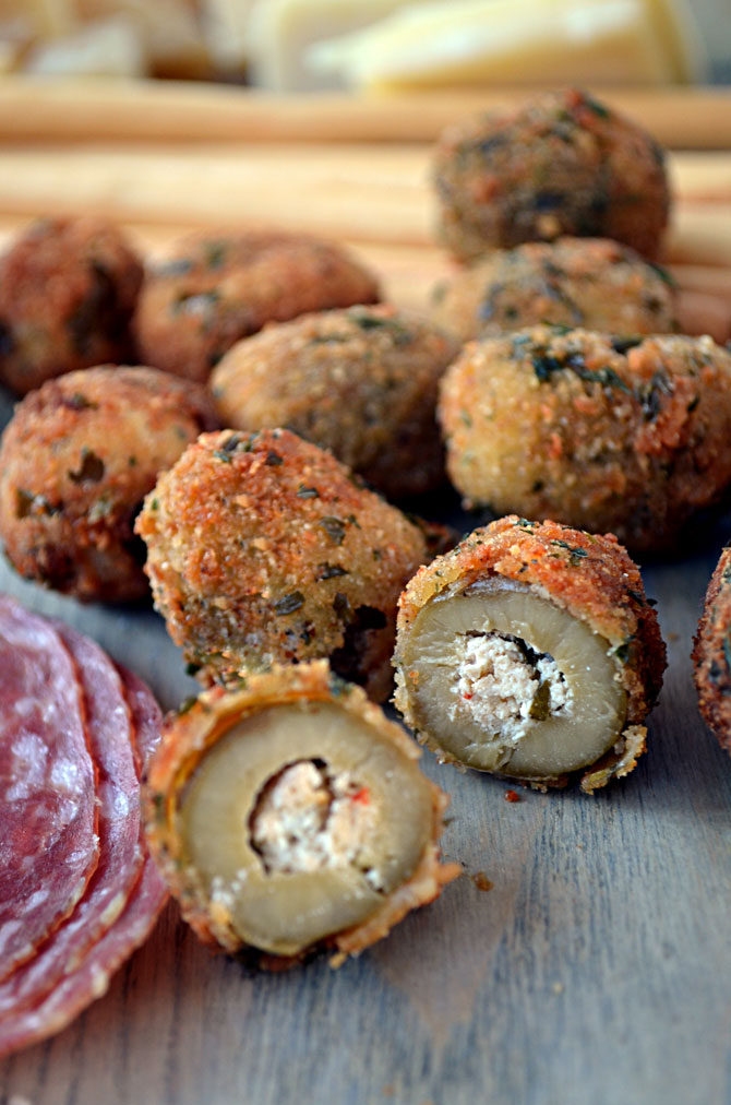 Fried Olives Stuffed with Italian Sausage and Goat Cheese ...