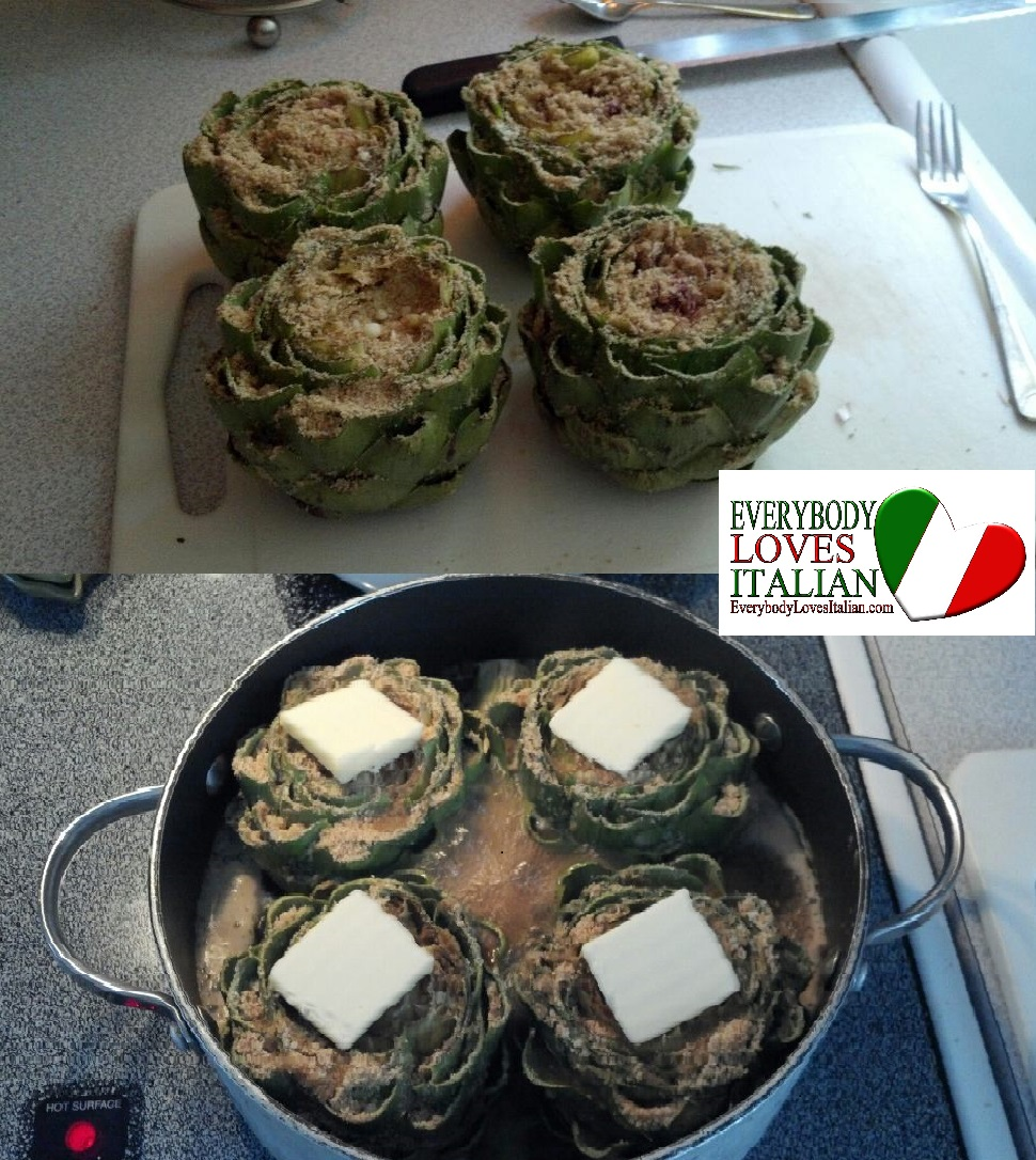 Dominic's Stuffed Artichokes - EverybodyLovesItalian.com